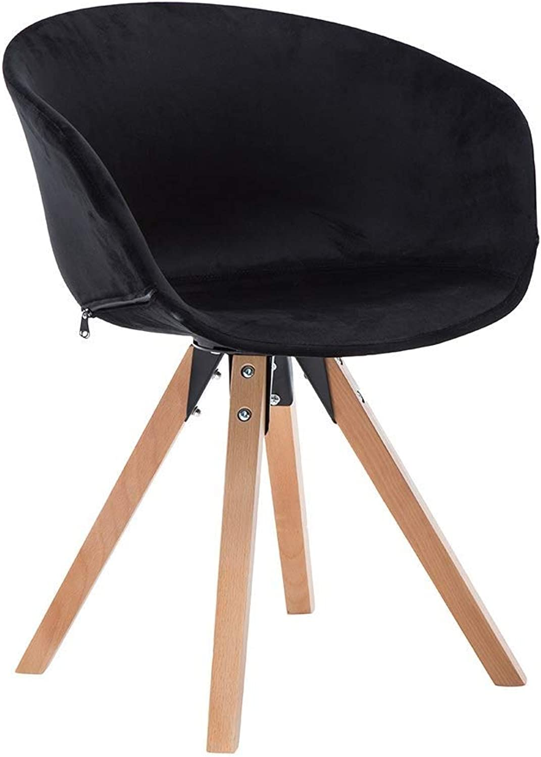 Wooden Creative Lounge Chair, Sturdy and Durable, Convenient Solid Wood Bracket, Coffee Shop, Seat Bar, Tea Shop, Chair with Backrest, Armchair, Dining Chair (color   Black)