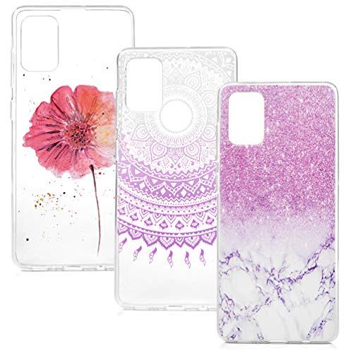 Vogu'SaNa Funda de silicona para teléfono móvil Samsung Galaxy A21S, transparente, fina, carcasa blanda, 3 fundas-4