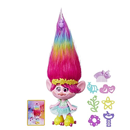 Product Image of the Trolls Party Hair Poppy Musical Doll, Sings 'Hair in The Air' When You Pull Up...