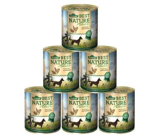 Dehner Best Nature Hundefutter, Adult Huhn und Kaninchen mit Nudeln, 6 x 800 g (4.8 kg)