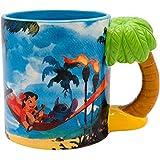 Lilo & Stitch - Taza de cerámica con mango esculpido (591 ml), diseño de la película Disney
