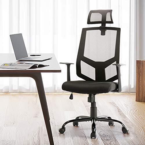 SMUGDESK Ergonomic Office Chair Lumbar Support Mesh Office Chair High Back Office Chair Desk Chair Task Chair