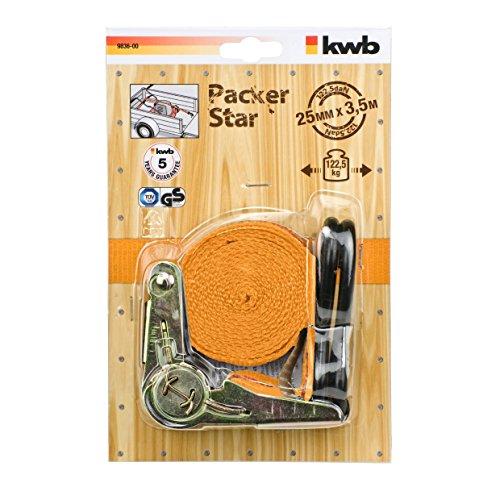 KWB 9836-00 Sjorband met ratel en haak