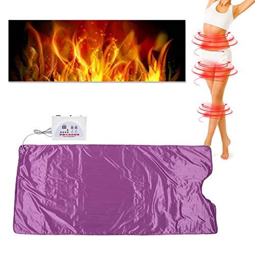 Saunadecken, Behandlungsdecke, Thermo Far Infrarot Sauna Decke Heizdecke Khan Dampf Decke Sliming Blanket Far Infrared Detox Sauna Heating Blanket Body Slimming Fitness Anti Aging Machine Purple(EU)