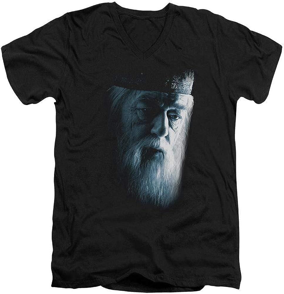 Sons of Gotham Harry Potter - Dumbledore Face Adult V-Neck T-Shirt