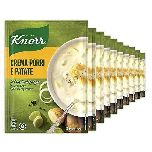 Knorr Crema Con Porri E Patate - Confezione Da 10 Pezzi - 900 g