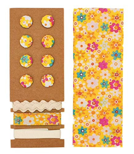 GLOREX Kit de Textile, Polyester, Jaune, 24,5 x 17,6 x 0,5 cm