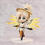 LJXGZY Regalo Escultura Juguete Decoración Artesanía Estatua Overwatch Q Tracer Angel Black Lily Ani...