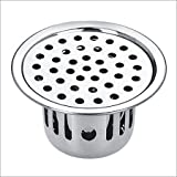 SBD Stainless Steel Anti-Cockroach Jali/Trap Floor Drain with Chrome Finished (Silver)