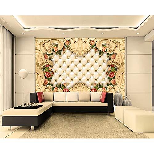 Shuangklei Europese grens luxe koffer Rose Tv achtergrond behang muurschildering huisdecoratie woonkamer slaapkamer 3D-behang 120x100cm