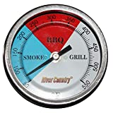 River Country 3' (RC-T3) Easy Mount Adjustable BBQ, Grill, Smoker Thermometer (100 to 550 F)