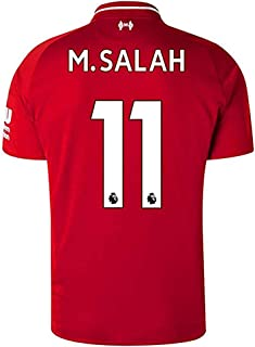SHEAFENG M Salah #11 Liverpool Home 2018-2019 Season Mens Soccer Jersey Red