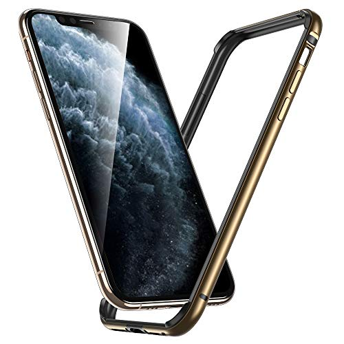 """ESR Bumper Case Compatible for iPhone 11 Pro Max, Metal Frame Armor with Soft Inner Bumper [Zero Signal Interference] [Raised Edge Protection] for iPhone 11 Pro Max 6.5""""(2019), Gold"""