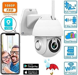 Crazy rice Cámara de vigilancia HD 1080P ptz cámara Exterior V380 con detección de Movimiento cámara IP IP66 cámara Domo de Alta Velocidad de Almacenamiento en la Nube de Tarjeta Onvif TF -32GB