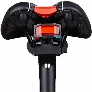 comprar comparacion OUTERDO - Luz trasera de bicicleta, USB recargable, led inteligente, alarma antirrobo inalámbrica, resistente al agua