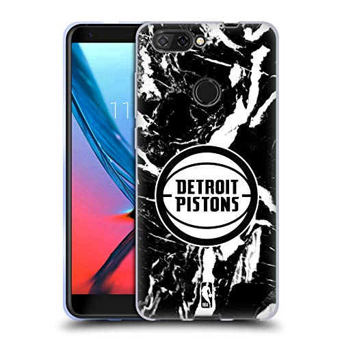 Officiële NBA Marmer 2019/20 Detroit Zuigers Soft Gel Case Compatibel voor ZTE Blade V9 Vita
