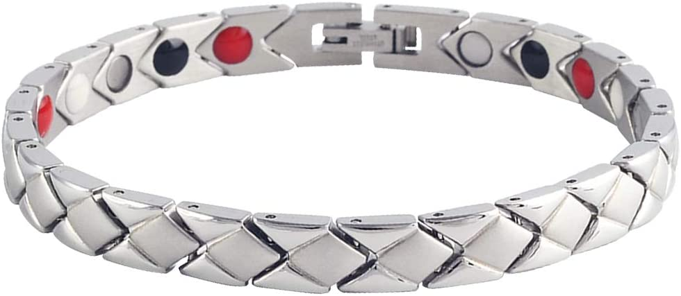 Women Bracelet Stainless Steel Day Arlington Mall Ranking TOP9 Gift Mother's Silver