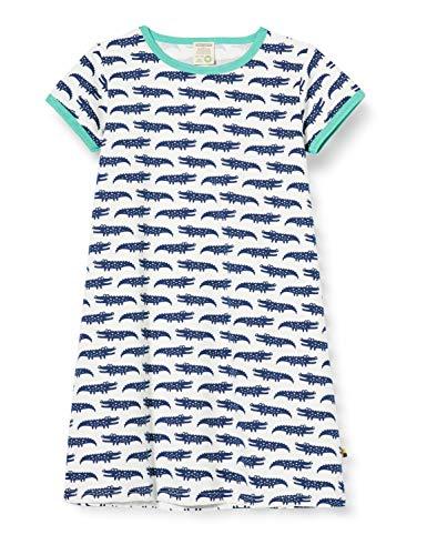 Loud + Proud Dress Allover Print Organic Cotton Robe, Bleu (Ultramarin UL), 86/92 Bébé Fille