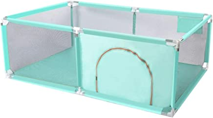 WANNA ME Baby Playpen Baby fence fence child shatter-resistant game fence infant toddler safety crawling mat home Strong And Durable Made From Non-To  color Turquoise