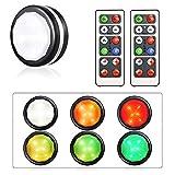 LIGHTESS 6er Set LED Schrankbeleuchtung Batterie Schrankleuchte mit Fernbedienung Kabinett Beleuchtung RGB für Küche Wohnzimmer Bücherregal Schrank usw