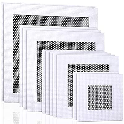 12 Pieces Aluminum Wall Repair Patch Self-adhesive Mesh Wall Repair Patch 2/4/ 6/8 inch Drywall Repair Tools Screen Patch for Drywall Ceiling Plaster