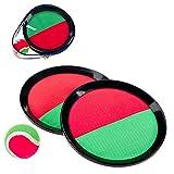 Smart Planet® Pallone da pesca con velcro – 2 dischi di raccolta Ø ca. 19 cm – 1 palla Ø ca. 6 cm palla in velcro gioco spiaggia spiaggia spiaggia palla catchball gioco gioco in velcro