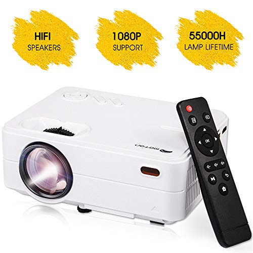 """Mini Projector Portable, Home Theater Projector, Outdoor Movie Projector 1080P 4K Projector,200"""" Video Projector Compatible with Smartphones, Fire Stick, TV Box, Laptop, DVD, PS4, VGA, USB, HDMI"""
