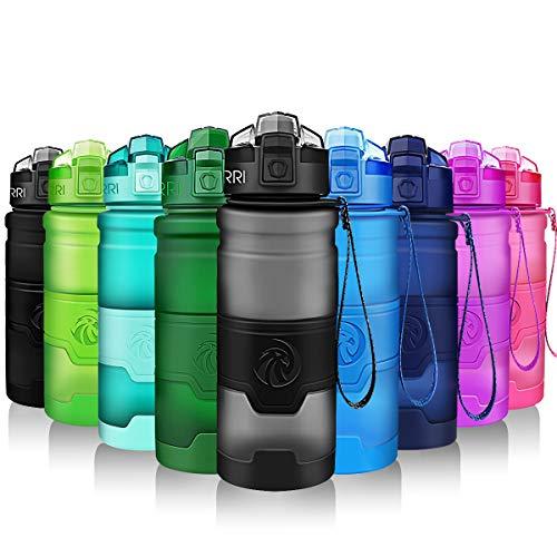 ZORRI Bottiglia d'Acqua Sportiva Senza BPA - Riutilizzabile Borraccia in plastica tritan 500ml/700ml/1000ml, Ideale Bottiglie...