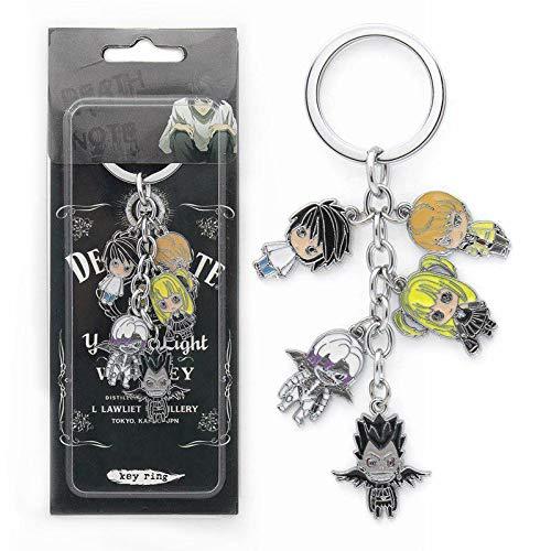 WinVI Anime Death Note Character Keychain Keyring Light L Ryuk Misa Rem
