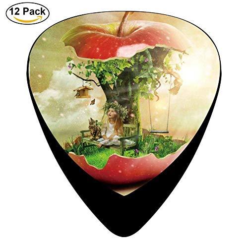 Sherly Yard Apple Tree Celluloid Guitar Picks 12 Pack para guitarra acústica eléctrica