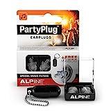 Tappi Alpine PartyPlug – Goditi le feste, i festival e i concerti in sicurezza – ottima qualità della musica – materiale ipoallergenico confortevole – tappi riutilizzabili – Trasparente