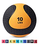 Medicine Exercise Ball with Dual Texture for Superior Grip by Day 1 Fitness - 10 Pounds - Fitness...