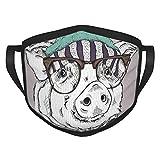 Weihnachts-Mundschutz, bemalt, lustige Schweine-Brille, Weihnachten, staubdicht, winddicht, wiederverwendbar, waschbares Tuch, Gesichtsabdeckung, Abdeckung für Staub Männer und Frauen