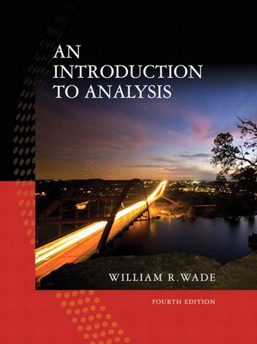 Introduction to Analysis, An, (2-download)