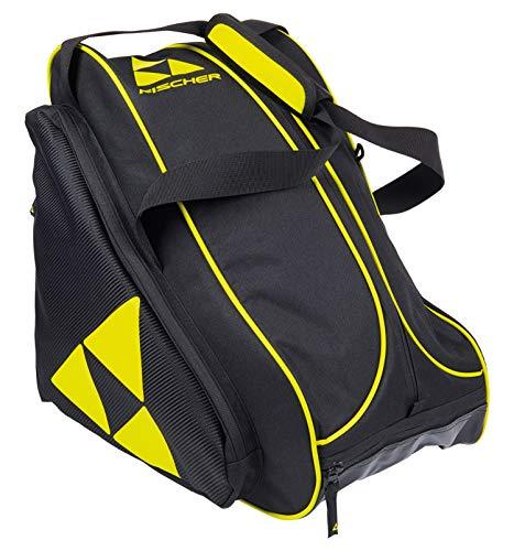 FISCHER Unisex– Erwachsene, schwarz/gelb Skibootbag Alpine Race, OneSize