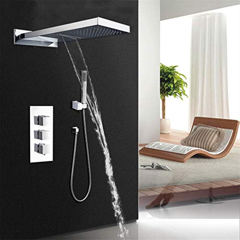 Badezimmer schleppdusche weg dusche wasserhahn set bar form regendusche kopf und drei steuerventil duschset