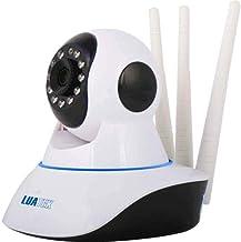 Câmera Ip Sem Fio 360° 3 Antenas HD Wifi Rj45 Visão Noturna Alarme