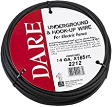 Dare Products 2212 Electric Fence Underground & Hook-Up Wire, Double Insulated 14 GA. Galvanized Steel Wire, 165 Feet