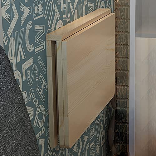 Mesa de Pared Plegable,Escritorio,Mesa de Estudio,Madera Maciza Mesa De Comedor Balcón Mesa Auxiliar Mesa De Hoja Abatible (Size : 50x30cm/19.7x11.8in)