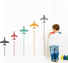 Rawpockets 'Colorful Airplanes ' Wall Sticker (PVC Vinyl, 105 cm x 120cm, Multicolour)