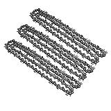 Welinks Lot de 3 chaînes de tronçonneuse à 76 maillons 50,8 cm pour tronçonneuse à Bois 325 058 76DL Pièce de Rechange pour Outils électriques Baumr-AG SX62