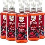 La Casa de los Aromas, Set de 6 x 250ml Ambientadores Mikado Frutos Rojos para Reposición con...