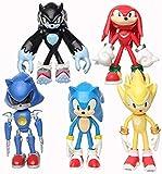 Yhwqhg Sonic Toys 12cm 5pcs / Set Figura Juguetes Muñeca Anime Dibujos Animados Sonic Tails Knuckles...