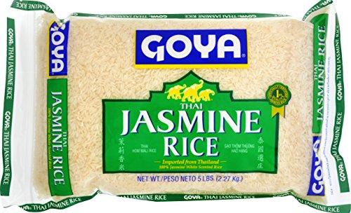 Goya Foods Jasmine Rice, 5 Pound (Pack of 8)