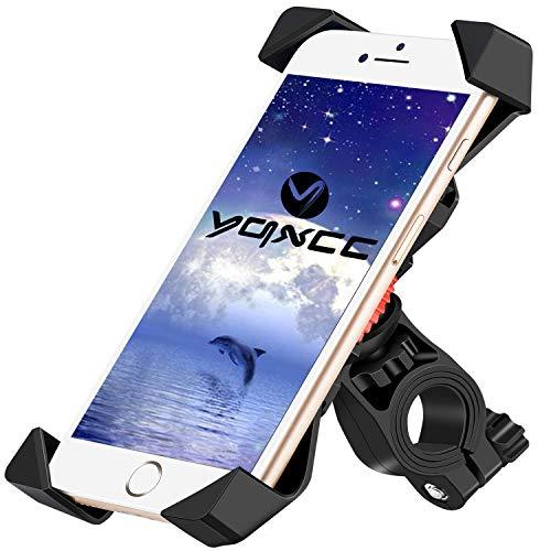YQXCC Bike Phone Mount Bicycle Holder/Bike Accessories/Bike Phone Holder /360° Rotation Universal Cradle Clamp for iOS Android Smart Phone Black