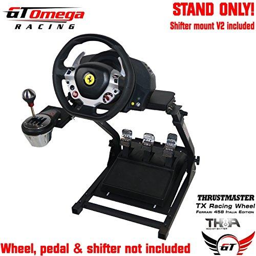 GT Omega Support de Volant pour Thrustmaster T150 Force Feedback Racing Wheel PS4 et pédales, prise en charge de TX, Xbox, Fanatec - Pliable et inclinable pour la console de course ultime