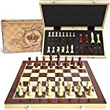 AGREATLIFE Wooden Chess Set: Universal Standard Board Game for...