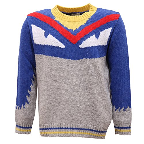 Fendi 2410V Maglione Bimbo Wool/Cashmere Multicolor Sweater Kid [4 Years]