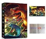 Álbumes Compatible con Cartas Pokemon, Carpeta Compatible con Cartas de Pokémon, Álbum Titular Compatible con Cartas Pokémon, 24 páginas con capacidad para 432 cartas (Phoenix VS Dragon)