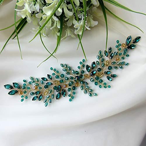 Deniferymakeup Smaragd Hochzeit Haarteil Grün Blau Rot Schwarz Haar Weinrebe Brautschmuck Kopfschmuck Hochzeit Haarschmuck